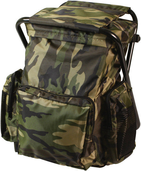 Rothco Woodland Backpack & Stool Combination