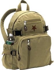 Rothco Khaki Vintage Red Star Backpack