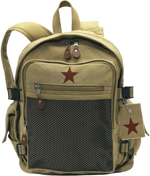 Rothco Khaki Vintage Star Backpack