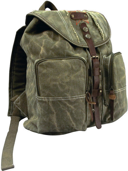 Rothco Leather Accents Stone Washed Backpack