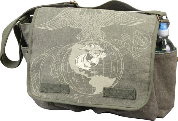 Rothco USMC Globe & Anchor  Messenger Bag