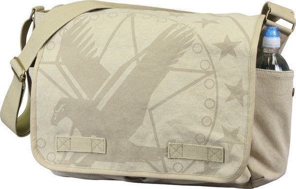 Rothco Khaki Army Eagle Messenger Bag