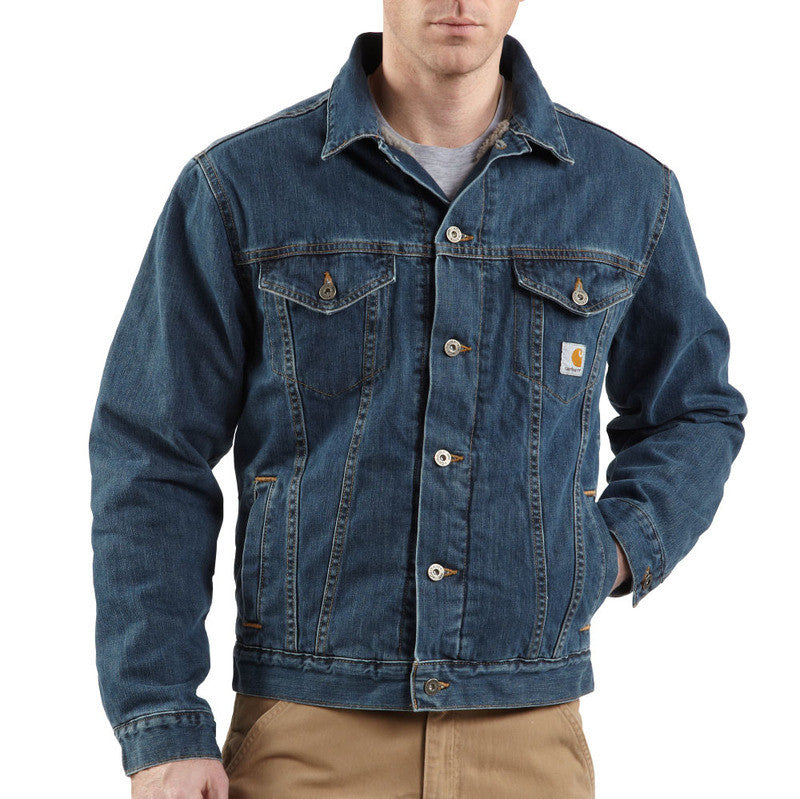 Carhartt J292 Sherpa Lined Denim Jean Jacket