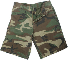 Rothco Woodland Camouflage Vintage 5 Pocket Military Paratrooper Cargo Shorts