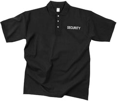 Rothco Black Moisture Wicking SECURITY Polo Golf Shirt