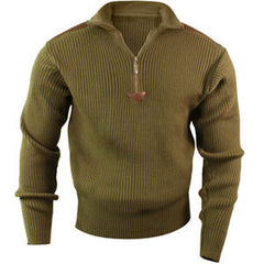 Rothco Olive Drab 1/4 Zip Up Acrylic Commando Sweater