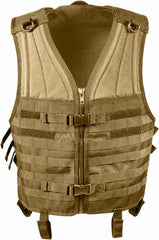 Rothco Coyote Brown MOLLE Modular Military Tactical Assault Vest