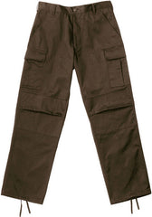 Rothco Brown Military BDU Cargo Rip-Stop Fatigue Pants