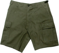 Rothco Olive Drab Rip-Stop Combat Military Cargo BDU Shorts