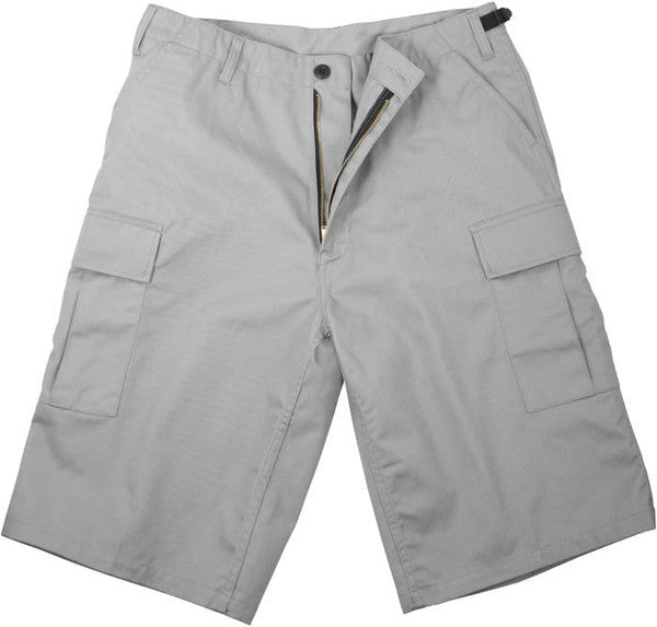 Rothco Grey Military Long BDU Cargo Shorts