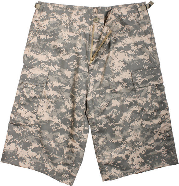 Rothco ACU Digital Camouflage Military Long BDU Cargo Shorts