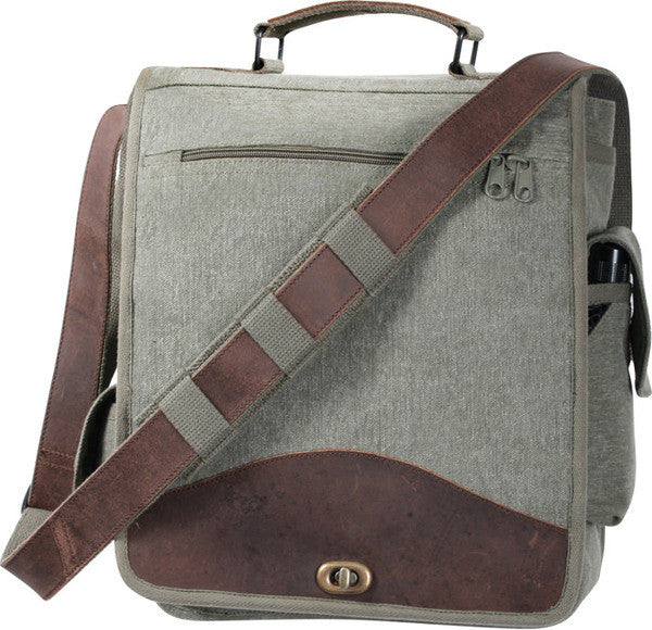 Rothco Olive Drab Vintage M-51 Engineers Field Journey Military Laptop Bag