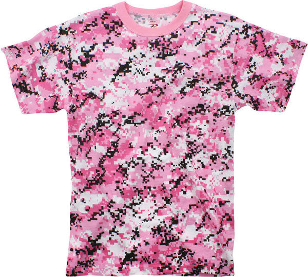Rothco Pink Digital Camouflage Military T-Shirt