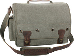 Rothco Olive Drab Tactical Military Trailblazer Laptop Bag With Leather Accents