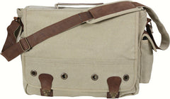 Rothco Khaki Tactical Military Trailblazer Laptop Bag With Leather Accents