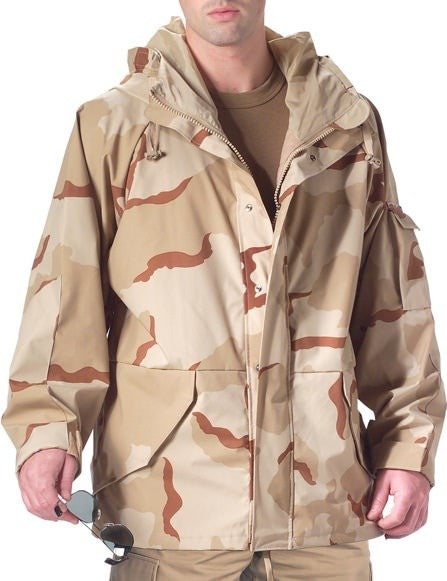 Rothco Tri-Color Desert Camouflage Wet Weather Parka