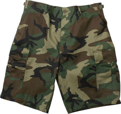 Rothco Woodland Camouflage Cargo Military BDU Shorts