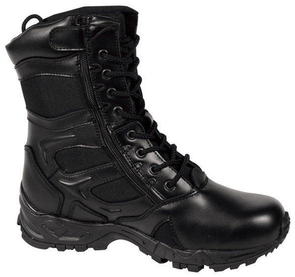 Rothco 8'' Black Side Zip Deployment Boot