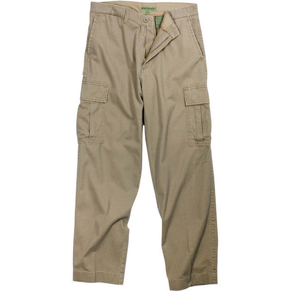 Rothco Khaki Vintage Military Cargo Flat Front BDU Fatigue Pants