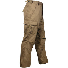 Rothco Coyote Brown Military BDU Cargo Polyester/Cotton Fatigue Pants