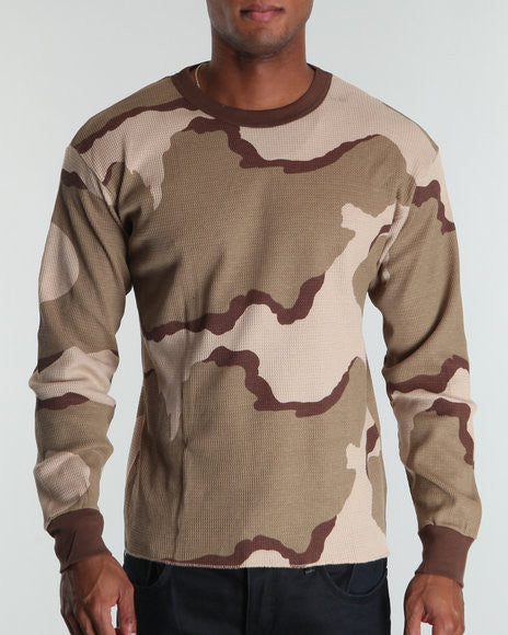 Rothco Tri-Color Camouflage Thermal Top