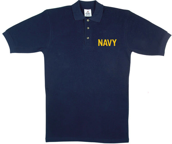 Rothco NAVY Embroidered Polo Shirt