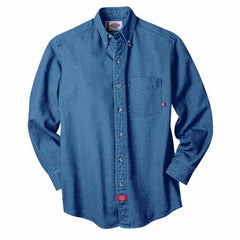 Dickies Long-Sleeve Button-Down Denim Shirt