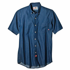 Dickies Short Sleeve Button-Down Denim Shirt
