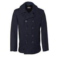 Schott Wool Blend Slim Fitted Pea Coat
