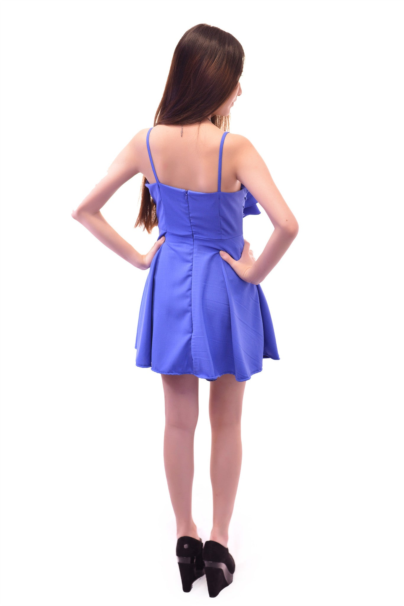 CASUAL AFFAIR DRESS IN BLUE