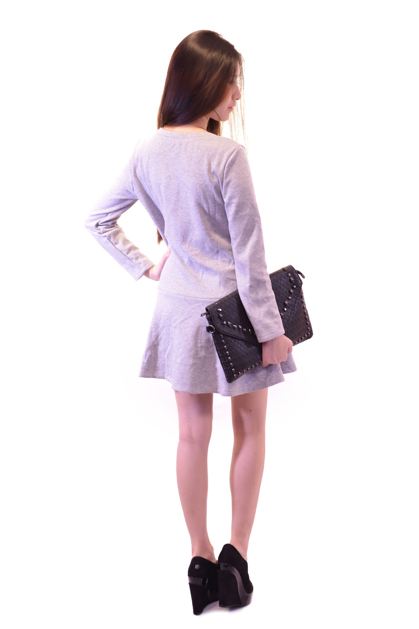OSAKA DRESS IN GREY