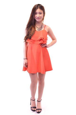 CASUAL AFFAIR DRESS IN CORAL