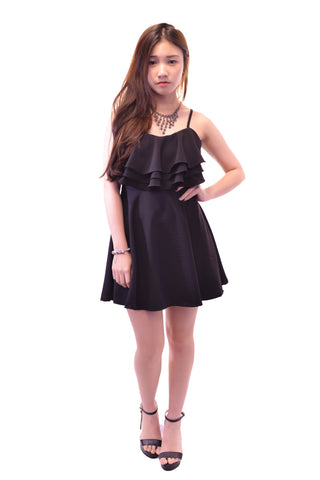 CASUAL AFFAIR DRESS IN BLACK