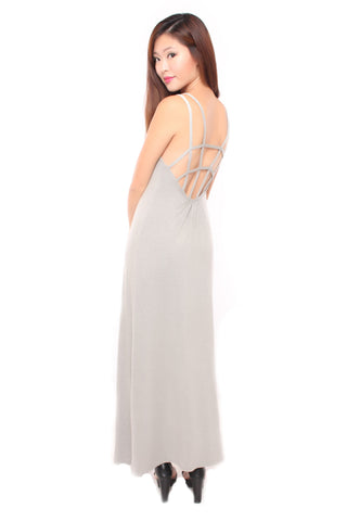 CAGED MAXI IN GREY