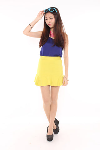 MERMAID SKIRT - NEON YELLOW