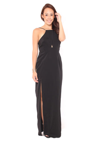 Auds Hem Dress in Black