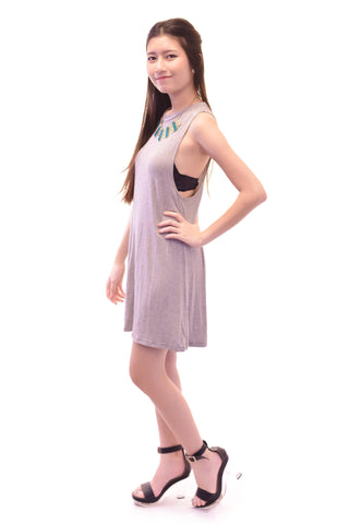 SIMPLICITY TANK DRESS IN GREY