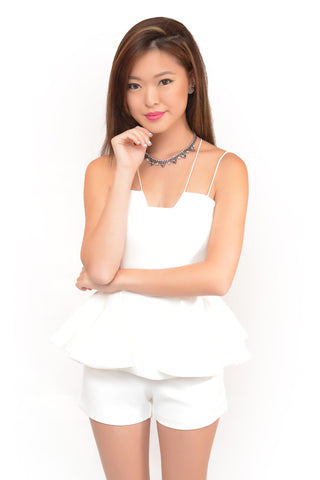 A Glam Doux Romper In White
