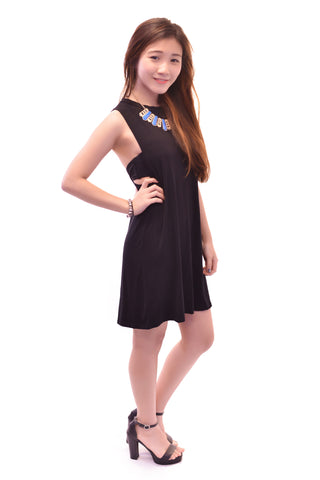 SIMPLICITY TANK DRESS IN BLACK