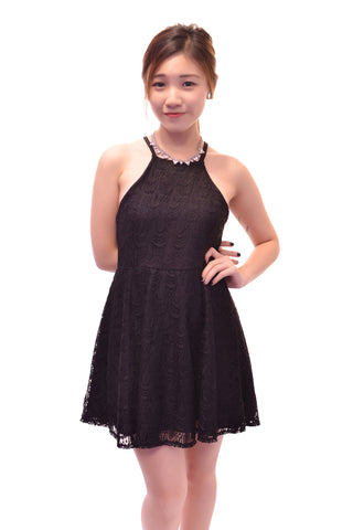 CALL ME LACE DRESS IN BLACK
