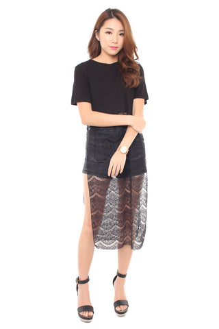 ZELDA T-SHIRT DRESS BLACK