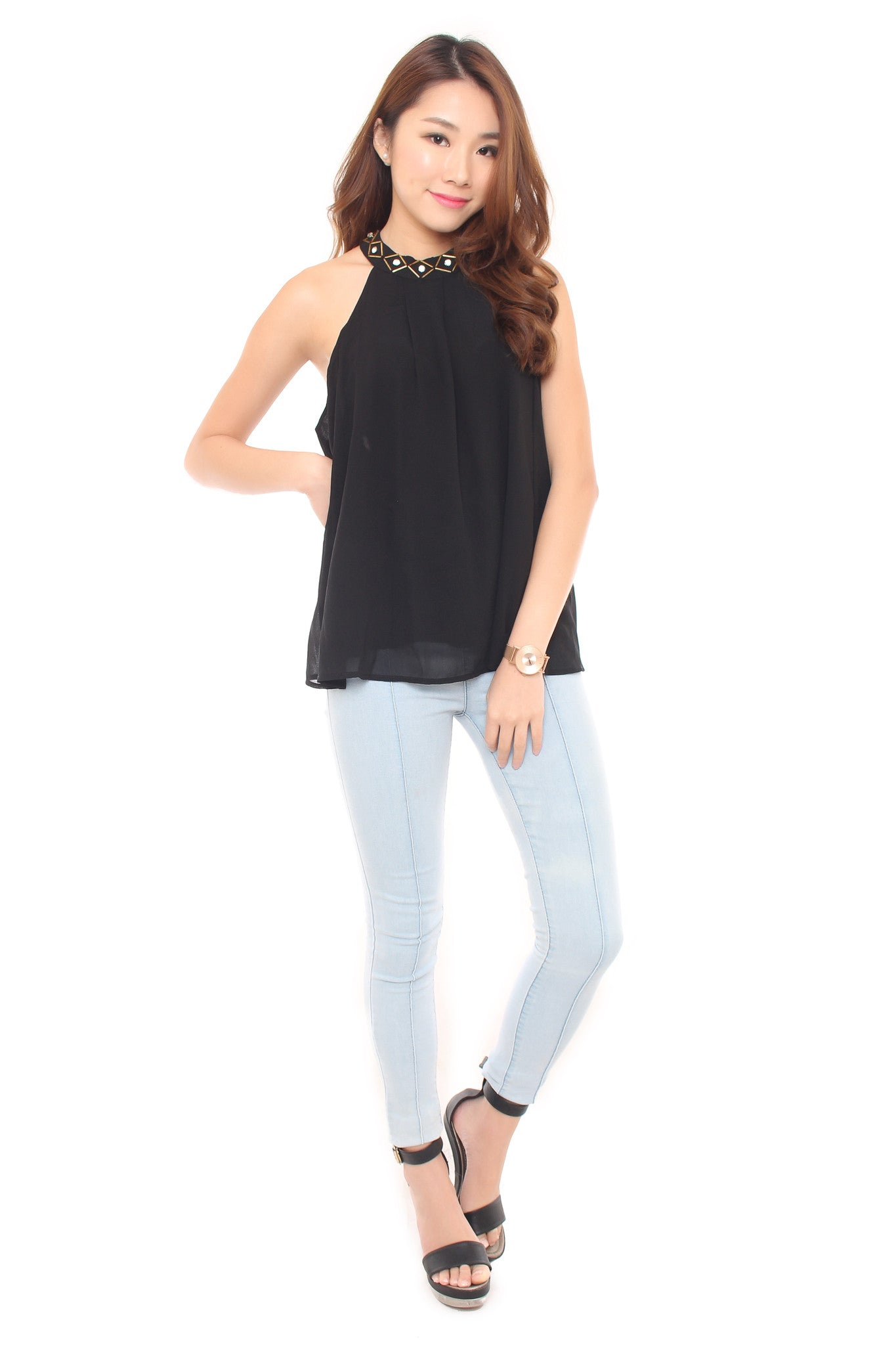 Robyn Top in Black