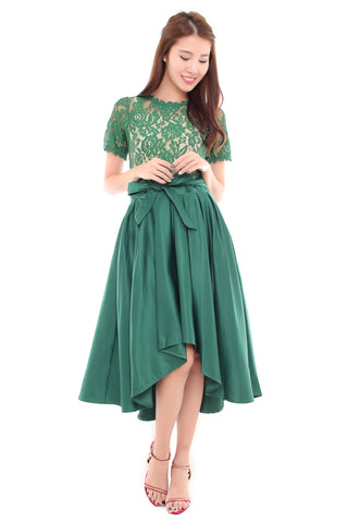 Amber Crochet Dress - Green