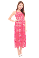 Premium Rose Crochet Dress