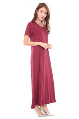 Everyday Maxi in Maroon