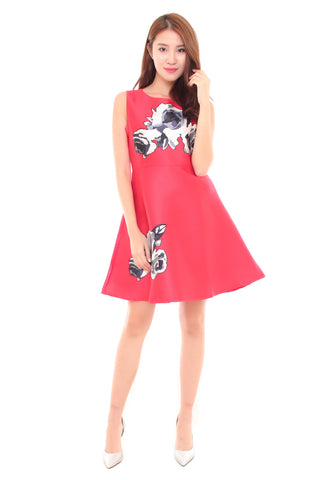 Lily Rose Dress in Red