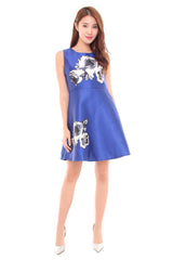 Lily Rose Dress in Cobalt