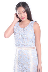Hannah Crochet Dress in Periwinkle