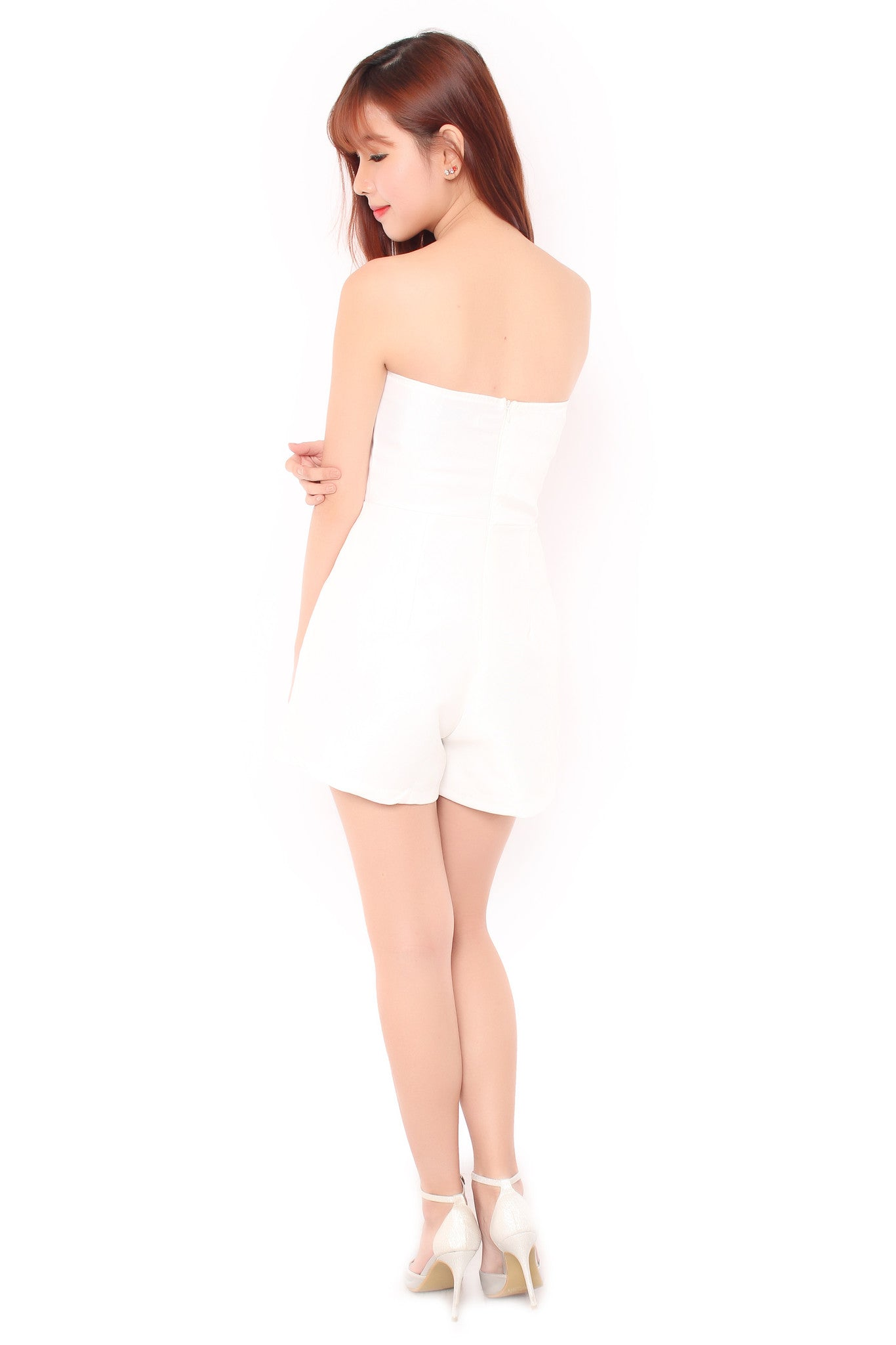 Alina Playsuit in White