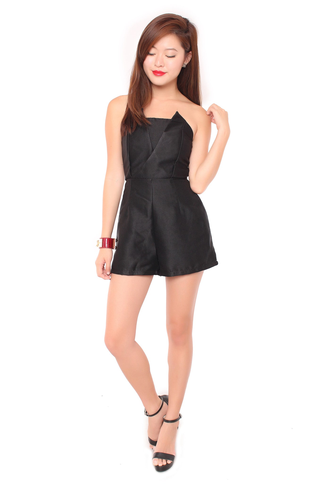 Alina Playsuit in Black